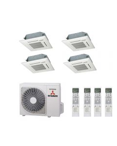 Mitsubishi Heavy Industries Air Conditioning SCM60ZM-S Multi Inverter Heat Pump 3 x FDTC35VF Compact Cassette A++ 240V~50Hz