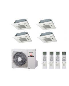 Mitsubishi Heavy Industries Air Conditioning SCM100ZM-S Multi Inverter Heat Pump 4 x FDTC35ZF Compact Cassette A 240V~50Hz