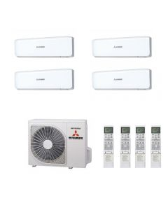 Mitsubishi Heavy Industries Air Conditioning SCM80ZM-S Multi Inverter Heat Pump 4 x SRK25ZS-S Wall Mounted A+ 240V~50Hz