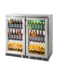 Unifrost BC20HSE double door stainless steel back bar cooler