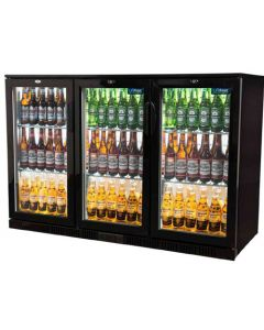 Unifrost BC30HBE Three door hinged back bar cooler