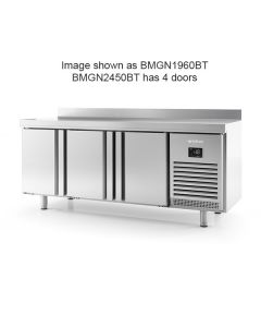 Infrico BMGN2450BT 4 Door Gn1/1 Freezer Counter With Upstand 625l