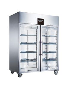 Blizzard BR2SSCR Double Glass Door Ventilated Gn Refrigerator 1300l