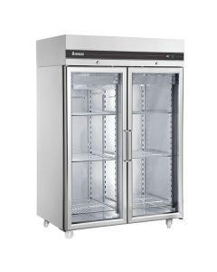Inomak CFP2144CR Double Glass Door Heavy Duty 2/1 Freezer 1432l