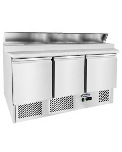 Atosa ESL3869GR Preparation Counter 3 doors & worktop