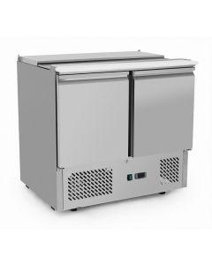 Atosa ESL3800GR Saladette prep fridge - 2 door