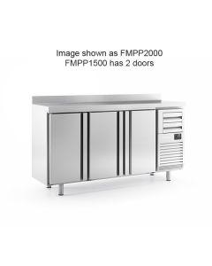 Infrico FMPP1500 2 Door Tall Back Bar Counter With Upstand 325l