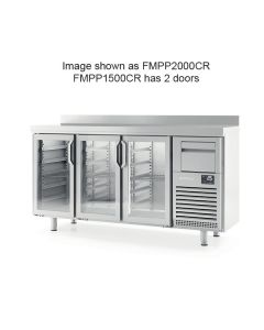 Infrico FMPP1500CR 2 Glass Dr Tall Back Bar Counter With Upstand 325l