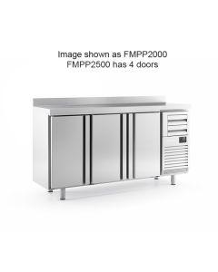 Infrico FMPP2500 4 Door Tall Back Bar Counter With Upstand 695l