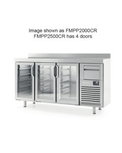 Infrico FMPP2500CR 4 Glass Dr Tall Back Bar Counter With Upstand 695l