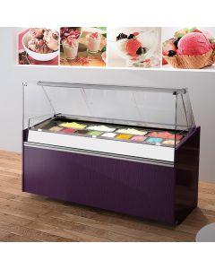 Jordao GL-VDA Eline Flat Glass Ice Cream Display