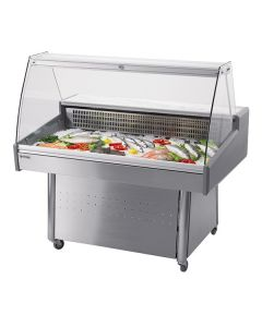 Mafirol Hera Fish CB-VCR Stainless Steel Fish Display Case With Base