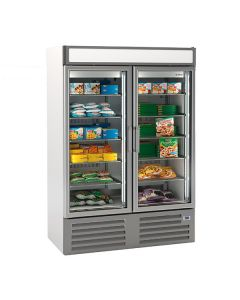 Infrico NEC1002FV Double Glass Door Freezer Merchandiser 1000l