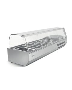 Infrico VIP1-4CR 1/4 Gastronorm Prep Top With Glass Cover